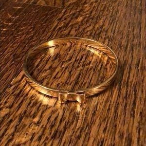 Kate Spade gold bow bangle